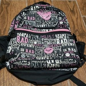 Roxy girls backpack with attached lunchbox